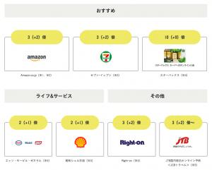 リボ払いを使うのにオススメのクレジットカード②JCB CARD Rのポイント倍増店舗