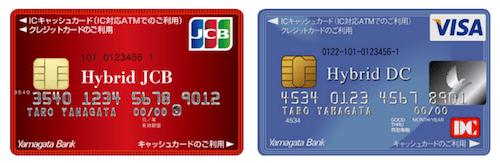 地方銀行のクレジットカードであるハイブリッドカード