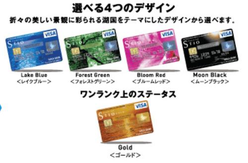 地方銀行のクレジットカードであるSTIO
