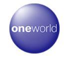 航空会社アライアンス:ワンワールドのロゴ