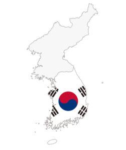 朝鮮半島の南半分が韓国