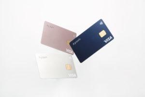Kyash Card 3枚のリアルカードデザイン